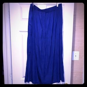 Beautiful Blue Chico's Maxi Skirt